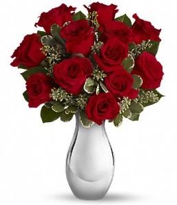 Sakarya çiçek yolla , çiçek gönder , çiçekçi    vazo içerisinde 11 adet kırmızı gül tanzimi