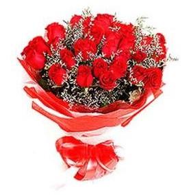 Sakarya çiçekçi mağazası  12 adet kırmızı güllerden görsel buket