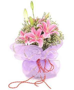 3 dal kazablanka görsel buketi  Sakarya güvenli kaliteli hızlı çiçek