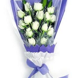 Sakarya çiçek mağazası , çiçekçi adresleri  11 adet beyaz gül buket modeli