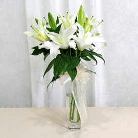 Sakarya çiçek satışı  2 dal kazablanka ile yapılmış vazo çiçeği