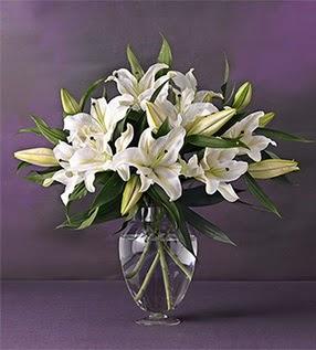 Sakarya online çiçek gönderme sipariş  4 dal cazablanca vazo çiçeği