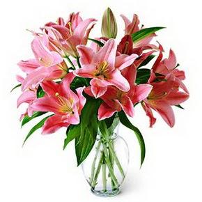 3 dal kazablanka görsel vazosu  Sakarya online çiçekçi , çiçek siparişi