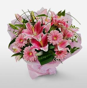 1 dal kazablanka ve kır çiçek görsel buketi  Sakarya güvenli kaliteli hızlı çiçek