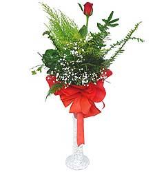 Sakarya çiçek satışı  Cam vazoda masum tek gül