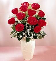 Sakarya çiçek mağazası , çiçekçi adresleri  9 adet vazoda özel tanzim kirmizi gül