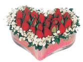 Sakarya 14 şubat sevgililer günü çiçek  mika kalpte kirmizi güller 9