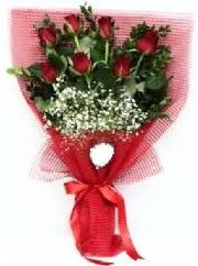 7 adet kırmızı gülden buket tanzimi  Sakarya çiçek gönderme sitemiz güvenlidir