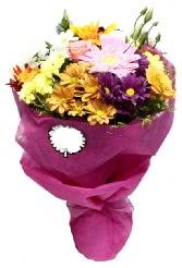 1 demet karışık görsel buket  Sakarya çiçek satışı