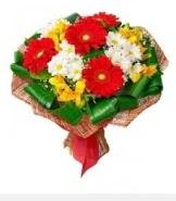 1 demet karışık buket  Sakarya çiçek , çiçekçi , çiçekçilik