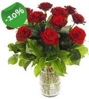 11 adet vazo içerisinde kırmızı gül  Sakarya İnternetten çiçek siparişi