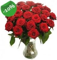Vazo içerisinde 25 adet kırmızı gül  Sakarya çiçek gönderme sitemiz güvenlidir