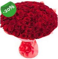 Özel mi Özel buket 101 adet kırmızı gül  Sakarya çiçek satışı
