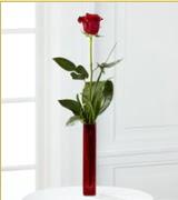 Vazo içerisinde 1 adet kırmızı gül  Sakarya online çiçekçi , çiçek siparişi