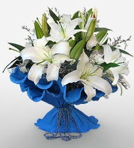 4 dal kazablanka çiçeğinden buket  Sakarya çiçek gönderme sitemiz güvenlidir