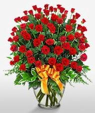 Görsel vazo içerisinde 101 adet gül  Sakarya çiçek gönderme sitemiz güvenlidir