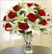 12 adet kırmızı gül 2 dal kazablanka vazosu  Sakarya anneler günü çiçek yolla