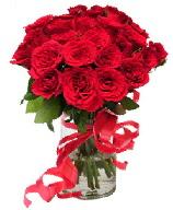 21 adet vazo içerisinde kırmızı gül  Sakarya anneler günü çiçek yolla