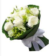 9 adet beyaz gül buketi  Sakarya kaliteli taze ve ucuz çiçekler