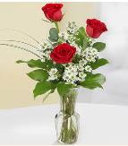Vazo içerisinde 3 adet kırmızı gül  Sakarya anneler günü çiçek yolla