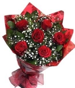 6 adet kırmızı gülden buket  Sakarya çiçekçiler
