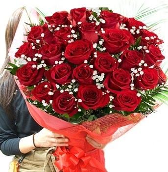 Kız isteme çiçeği buketi 33 adet kırmızı gül  Sakarya cicek , cicekci