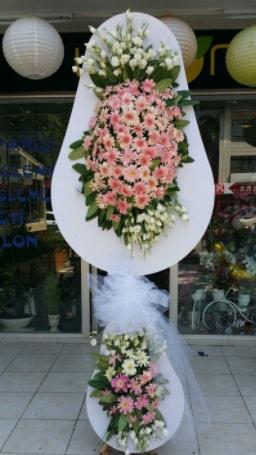 Çift katlı özel şahane sepet çiçeği  Sakarya 14 şubat sevgililer günü çiçek