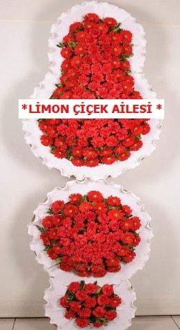 3 katlı kırmızı düğün açılış çiçeği  Sakarya uluslararası çiçek gönderme