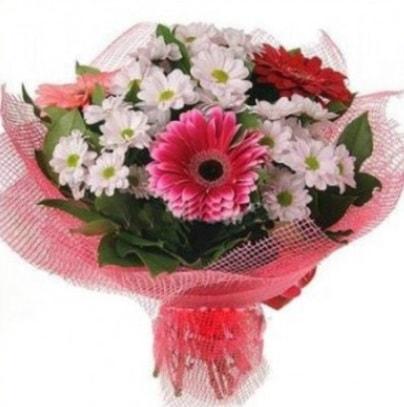 Gerbera ve kır çiçekleri buketi  Sakarya online çiçekçi , çiçek siparişi