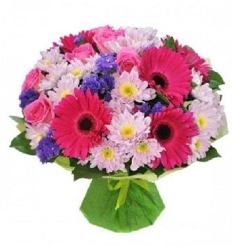 Karışık mevsim buketi mevsimsel buket  Sakarya anneler günü çiçek yolla
