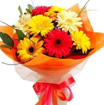 9 adet karışık gerbera buketi  Sakarya hediye sevgilime hediye çiçek