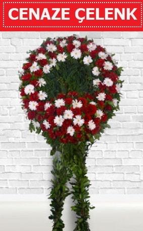 Kırmızı Beyaz Çelenk Cenaze çiçeği  Sakarya online çiçek gönderme sipariş