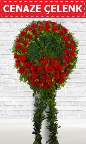 Kırmızı Çelenk Cenaze çiçeği  Sakarya online çiçek gönderme sipariş