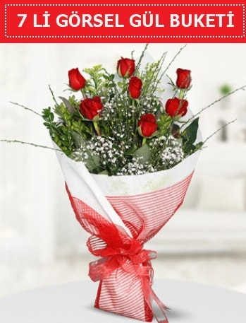 7 adet kırmızı gül buketi Aşk budur  Sakarya anneler günü çiçek yolla