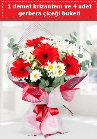 Krizantem ve Gerbera Buketi  Sakarya kaliteli taze ve ucuz çiçekler