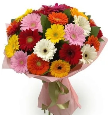 Karışık büyük boy gerbera çiçek buketi  Sakarya anneler günü çiçek yolla